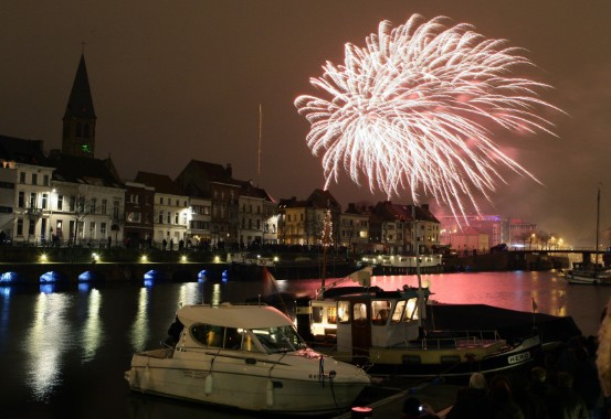 Evenement, event, Eindejaarsvuurwerk, vuurwerk, Portus Ganda, Gent, Nieuwjaar, Oudejaar