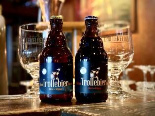 Trollebier Blond en Donker op fles van 33cl.