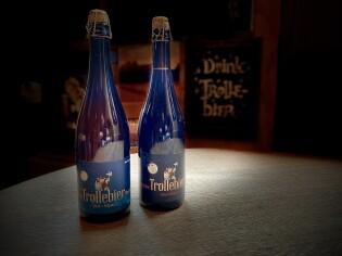 Trollebier Blond en Donker op fles van 75cl.