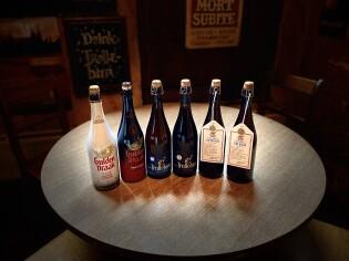 6 unieke bieren op 75 cl fles: Gulden Draak  Classic, Gulden Draak Imperial Stout, Trollebier Blond,  Trollebier Donker, Gulden Draak Cuvée Prestige Laphroaig en Gulden Draak Cuvée Prestige Bourbon